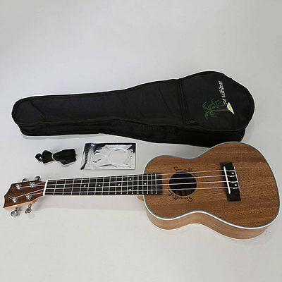 24 inch 4 String Ukulele Uke Guitar Musical Instrument + Bag Beginners Concert