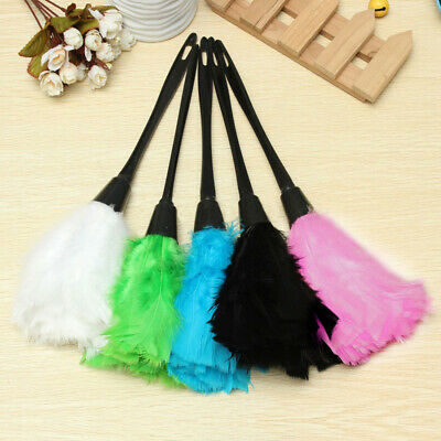 35cm Soft Microfiber Mini Clean Anti Static Turkey Feather Duster Cleaner Brush