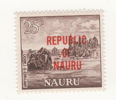 1968 O'print REPUBLIC OF NAURU 25c Brown CORAL PINNACLES SG#89 Mint MUH