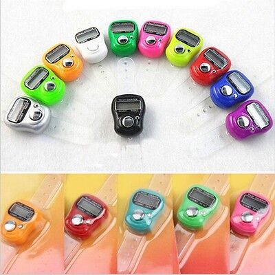 1pcs Stitch Marker&Row Finger Counter LCD Electronic Digital Tally Counter Mini
