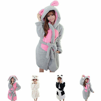 New Unisex Men Women Nightwear Sleepwear Pajama animal  Gown Bath Gown Bath Robe