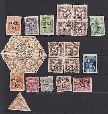 Fiume Selection, Including Overprints, Mm/mm + Fu.