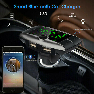 Bluetooth FM Transmitter Wireless Handsfree Car Kit Mp3 Music Player USB Charger