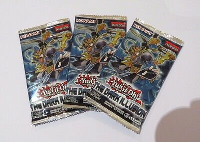 YuGiOh! (x3) Dark Illusions booster packs 1st Edition GREAT VALUE!