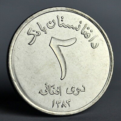 Afghanistan 2 Afghanis. Asia Coin. UNC.