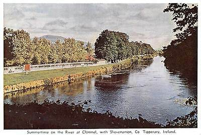 Summertime on the River at Clonmel, wish Slievenamon Co Tipperary