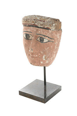 Original 1st Century B.C. Egyptian Sarcophagus Mummy Fragment Mask  -Rare