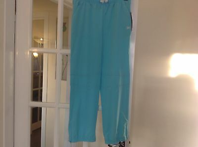 Girls reebok play dry base layer hydro gym dance trousers turquoise age 10