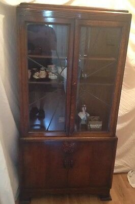 Art Deco Display Cabinet/Glazed Bookcase