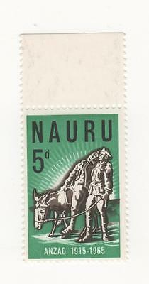 1965 NAURU Australia 50th Anniv of Gallipoli Landing- 5d. Simpson and Donkey MUH