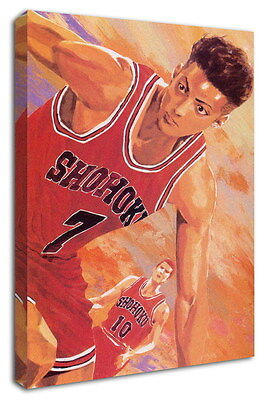 WK-C022 (513) SLAM DUNK Canvas Stretched Wood Framed 36x24inch Poster