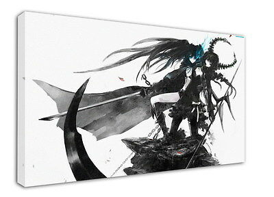 WK-C014 (524) Black Rock Shooter Canvas Wood Framed 36x24inch Poster