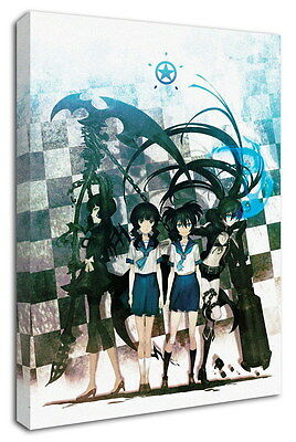 WK-C014 (511) Black Rock Shooter Canvas Wood Framed 36x24inch Poster