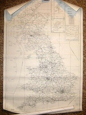 Large Outline MAP of Great Britain - rolled sheet Ordnance Survey 1975 1:250000