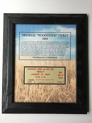 Authenticated Woodstock Ticket Friday August 15th, 1969