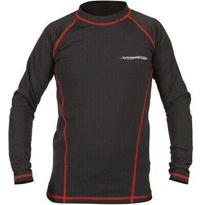 WindFilter Motorbike Motorcycle Base Layer Climate Long Sleeve Shirt Black / Red