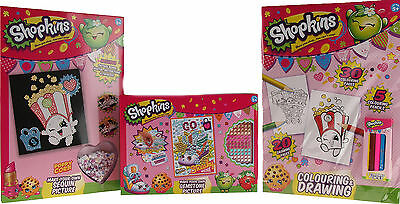 Shopkins 3 Christmas Stocking Fillers - Colouring And Craft Gift Sets