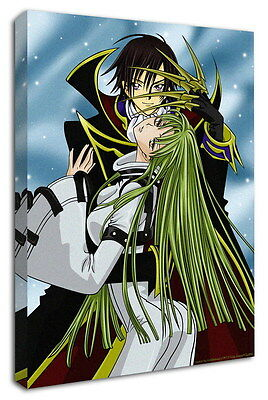 WK-C054 (530) Code Geass Zero Canvas Stretched Wood Framed 36x24inch Poster