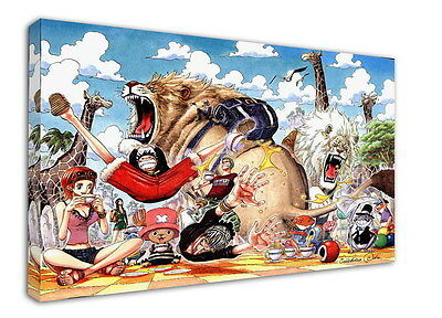 WK-C901 (552) One Piece Anime Canvas Stretched Wood Framed 36x24inch Poster