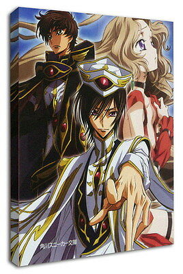 WK-C054 (510) Code Geass Zero Canvas Stretched Wood Framed 36x24inch Poster