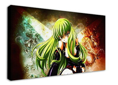 WK-C054 (515) Code Geass Zero Canvas Stretched Wood Framed 36x24inch Poster