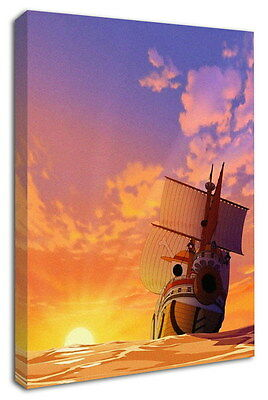 WK-C901 (510) One Piece Anime Canvas Stretched Wood Framed 36x24inch Poster
