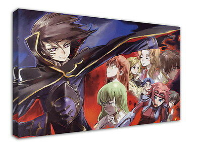 WK-C054 (533) Code Geass Zero Canvas Stretched Wood Framed 36x24inch Poster