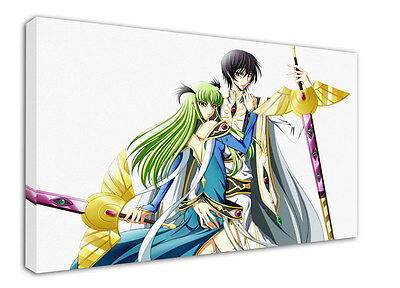 WK-C054 (518) Code Geass Zero Canvas Stretched Wood Framed 36x24inch Poster