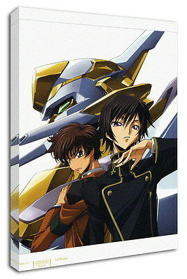 WK-C054 (528) Code Geass Zero Canvas Stretched Wood Framed 36x24inch Poster