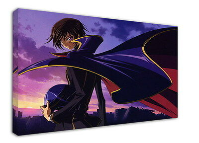 WK-C054 (505) Code Geass Zero Canvas Stretched Wood Framed 36x24inch Poster