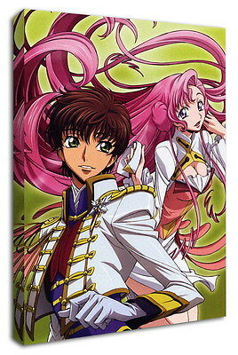 WK-C054 (529) Code Geass Zero Canvas Stretched Wood Framed 36x24inch Poster