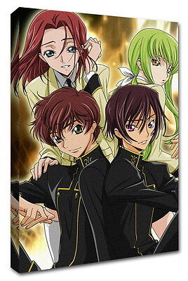 WK-C054 (545) Code Geass Zero Canvas Stretched Wood Framed 36x24inch Poster