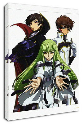 WK-C054 (542) Code Geass Zero Canvas Stretched Wood Framed 36x24inch Poster