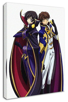 WK-C054 (537) Code Geass Zero Canvas Stretched Wood Framed 36x24inch Poster
