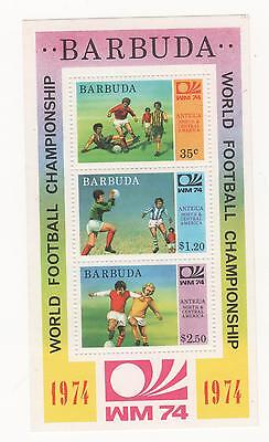 1974 Barbuda ( Antigua ) World Cup Football Championships mini sheet SG#MS171MUH