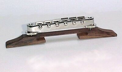 Gotoh GBTC Tune-o-matic Archtop Guitar Bridge - Chrome plated with Rosewood Base