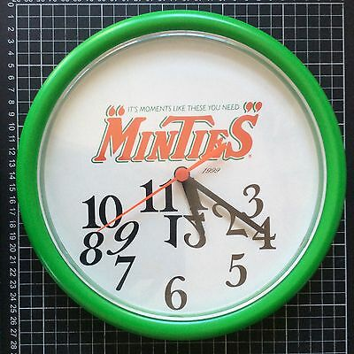 MINTIES CLOCK Australian confectionary promotional sign milk bar advertising