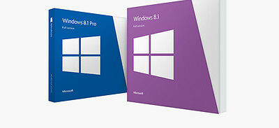 Brand New Microsoft Windows 8.1 Home 64-bit with Disk and License