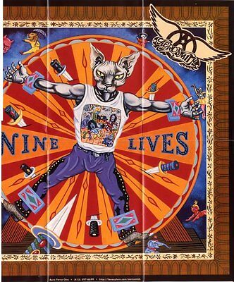 Aerosmith Fan Club Nine Lives Poster
