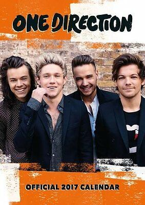 One Direction Official 2017 A3 Wall Calendar Brand New 9781785490477