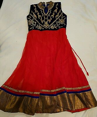 Child's Long Dress/gown/anarkali Suit. **brand New**