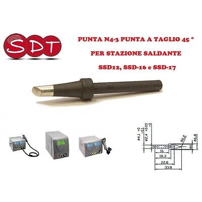 TIP N4-3 tip A CUT 45 DEGREES FOR SOLDERING STATION SSD12, SSD-16 e SSD-17