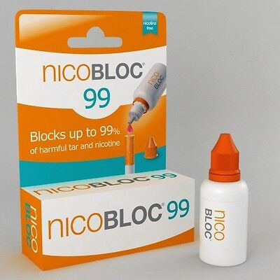 5 boxes NicoBloc99 Liquid - Smoke Without Nicotine, or Tar - Helps Quit Easily