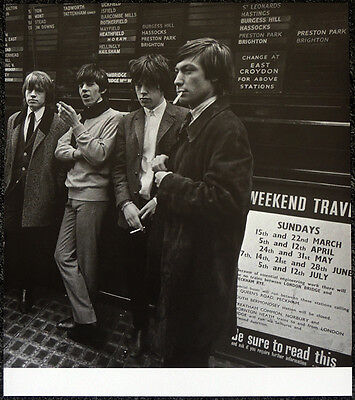 The Rolling Stones Poster Page 1964 Victoria Station London . Y13