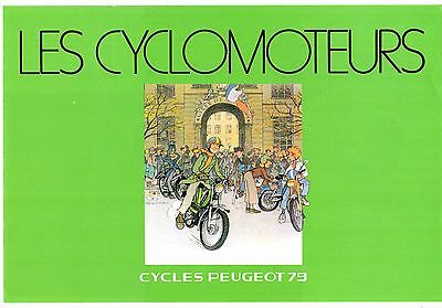 Peugeot Mopeds 1979 French Market Foldout Sales Brochure