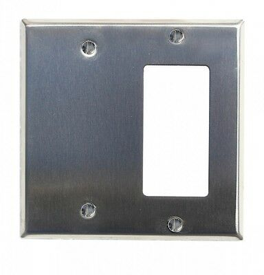 Switchplate Brushed Stainless Steel GFI Blank| Renovators Supply