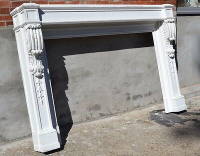 Fireplace Mantel Hand Carved Antique Architectural Furniture Victorian Wood Bed