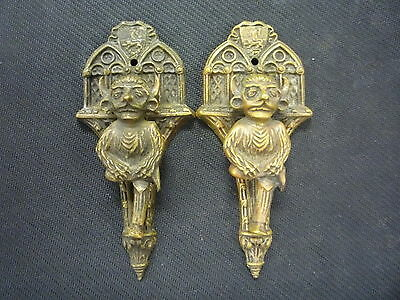 Very Rare Vintage Antique Brass Bronze Lincoln Imp Door Knockers