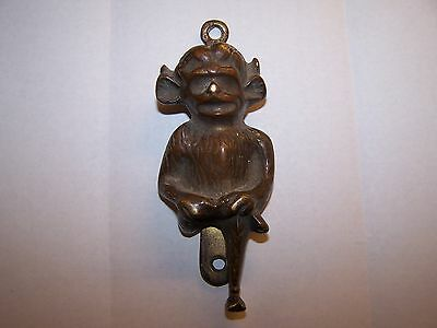 Large Antique Lincoln Imp Cast Bronze Brass Devil Pixie Gargoyle Door Knocker