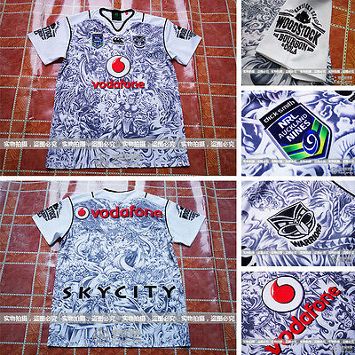 2015-16 New Zealand NRL football service warriors rugby jersey